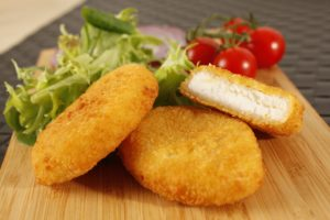 Breaded goat cheese