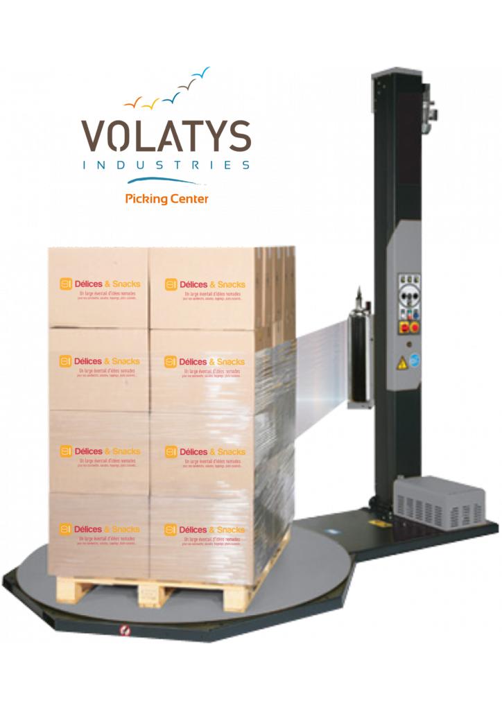 Volatys continue de moderniser son site de picking avec sa nouvelle filmeuse à VIPC
