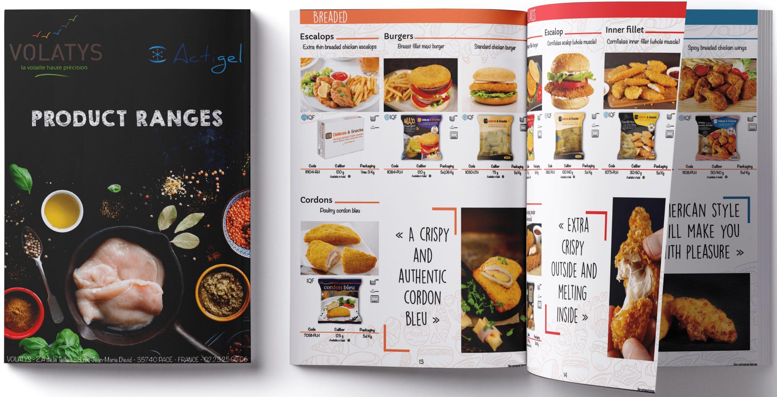 Volatys product catalogue
