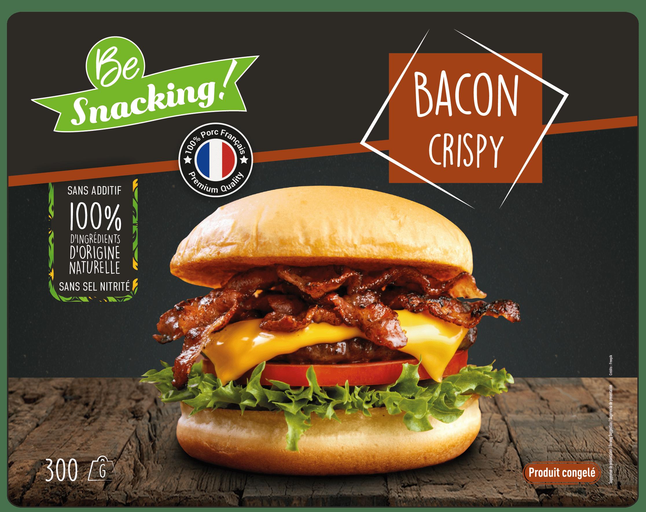 Bacon de porc crispy origine France Be Snacking