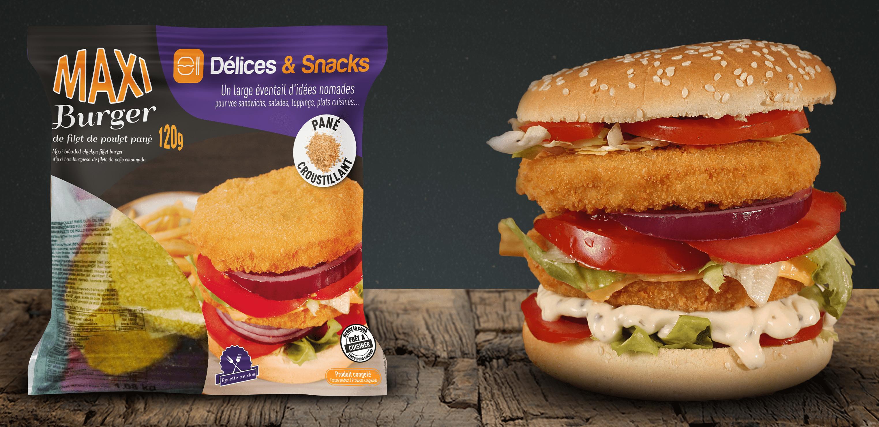 Maxi burger de filet de poulet Délices & Snacks